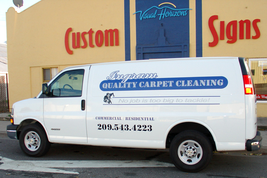 ingrams carpet cleaning van lettering
