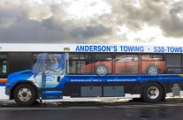 Anderson's Towing Bus Ad