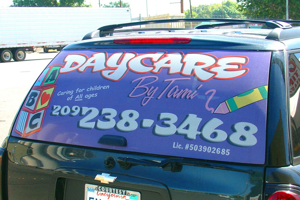 Daycare Vehicle Window Graphic Visual Horizons Custom Signs