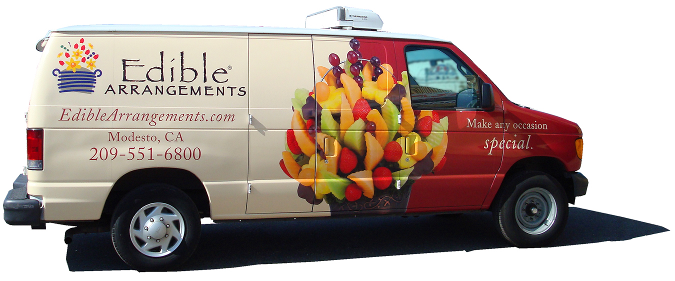 edible arrangements van wrap visual horizons custom signs