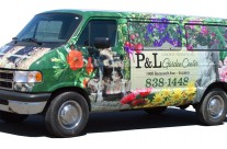 P&L Concrete and Garden Center Van Wrap