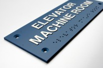 Engraving with Tactile Letters and Braille