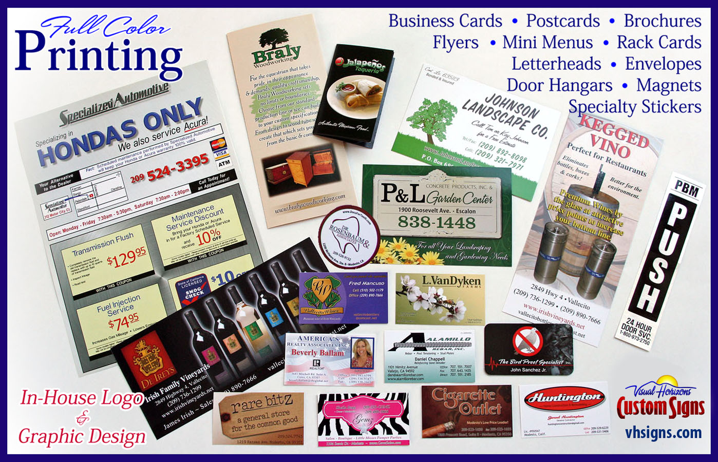 Business Cards, Postcards, Brochures & More! | Visual Horizons ...