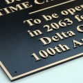 Dimensional Bronze Plaque