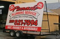 Pinnacle Plumbing Service – Trailer Signs