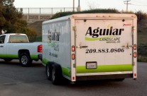 Aguilar Landscaping Trailer Graphics
