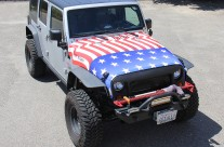 American Flag Jeep Hood Wrap