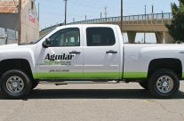 Aguilar Landscape truck graphics and stripes