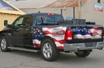 America's Auto Glass partial wrap