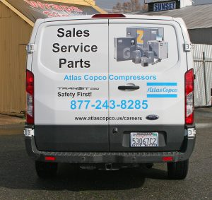 Atlas Copco_van wrap_rear