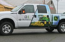 Belkorp Ag truck partial wrap
