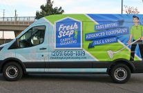 Fresh Step transit van full wrap