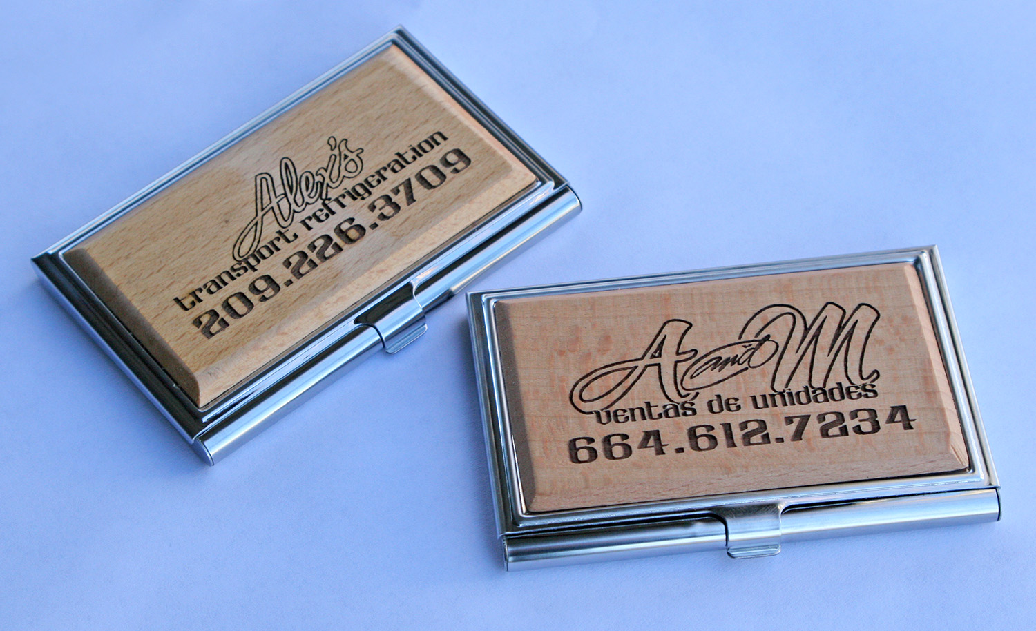 Laser engraved business card holder visual horizons custom signs laser engraved business card holder colourmoves