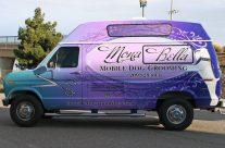 Mona Bella Dog Grooming van wrap