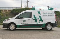 UC Construction partial van wrap