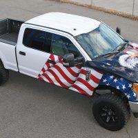 American Flag & Eagle Truck Wrap