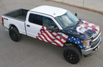 American Flag & Eagle Truck Wrap