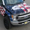 American Flag Hood and Side Wrap