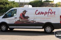 Campfire Meats Van Graphics