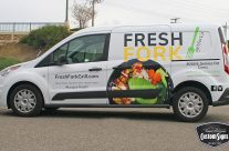 Fresh Fork Grill Van Graphics