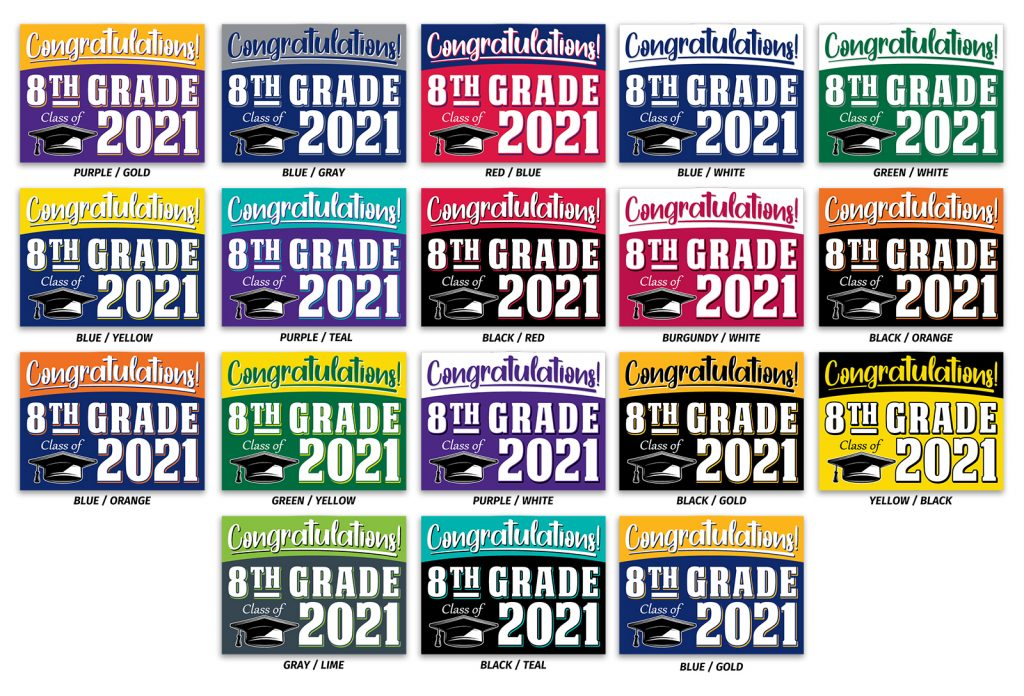 8th grade graduation signs